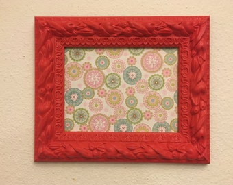 6x8 Red Upcycled Handpainted Wall Picture Frame