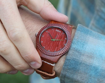 Real Wood Watch, Real Wood Watch - Rosewood Unisex Watch - ARBR-RS