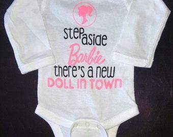 Step Aside Barbie Little Girl's Onesie