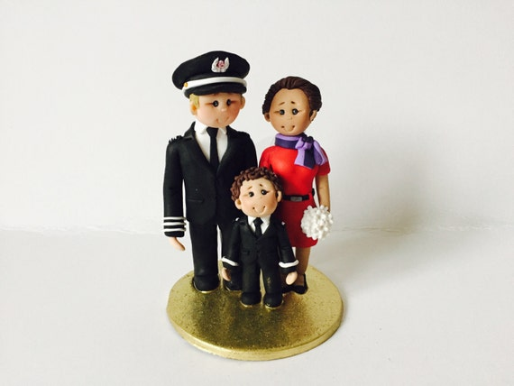 pilot flight attendant wedding cake toppers pilot amp airhostess flight attendant wedding cake topper 18522