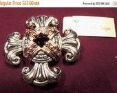 Sizzlin Summer Sale Vintage Cross Gemstone Gold Silver Plated  Premier Designs Brooch