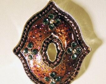 SPRING PRICE BREAK Necklace Earring 3 Strand Enamel Jewelry Set
