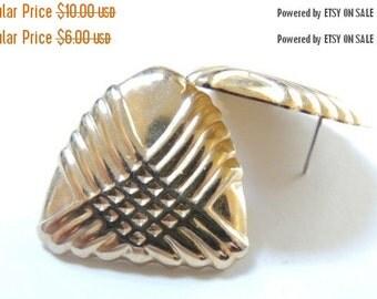 SPRING PRICE BREAK Gold tone Textured Post Earrings