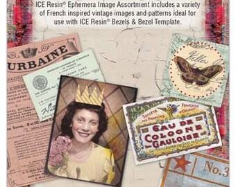 Ranger - ICE Resin - Ephemera Image Assortment
