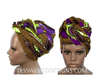 Cotton Scarf head wraps / African Head wraps/ Scarves/ African Fabric/ African hair accessory/ African Head scarf/ HT127