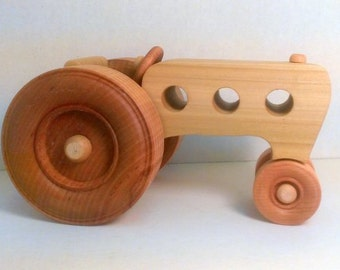 Handmade 6 Cylinder Wooden Tractor