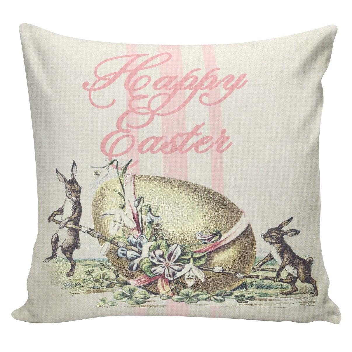 Easter Throw Pillow Covers : Easter Pillows Bunny Pillows Easter Decor Burlap Pillow