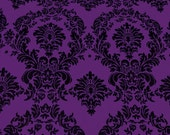 "Purple Damask Taffeta Dior Fabric by the 58"" Yard"