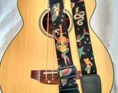 Sailor Jerry black tattoo guitar strap
