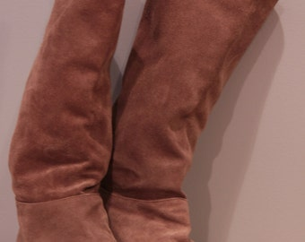 Vintage Suede Slouchy Knee Boots- Taupe, Women's 7.5