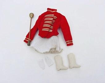 1960s Barbie Doll Majorette Uniform, Made by Mattel, 7 Piece Set