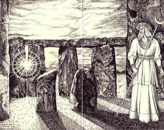 Oberon's Lair - Druids, Stonehenge, Magical Art, Merlin, Pagan, Solstice, Pre-Christian, Avebury, Bitcoin Accepted