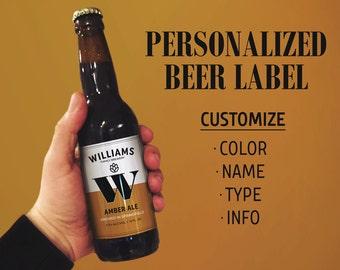 Beer Labels, Beer Label Maker, Homebrew Beer Label, Personalized Beer Label, Personalized Label, Printable Beer Label, Home Brew Label