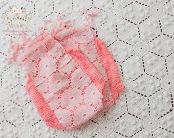 Newborn prop, baby romper, baby photo prop/ Pink romper