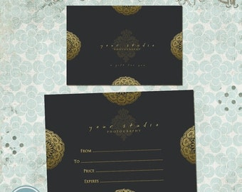 ON SALE Gift Certificate Photo Card Template Photography Templates 017 - INSTANT Download