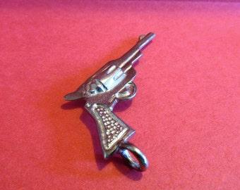 Three Pewter Pistol Gun Pendants