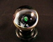 Cosmos series, Emerald planet collector marble by Glass & Burl Designs.