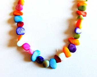 Colourful Semi Precious Necklace