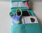 Turquoise Nurse Pocket Organizer, Pocket Organizer, Bag Organizer