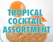 Tropical Cocktail Assortment Lollipops - Pina Colada, Tequila Sunrise, Mojito, Salted Margarita, Strawberry Daiquiri