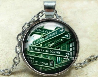 Paris street art pendant, Paris street necklace, Paris necklace, Paris pendant, Paris jewelry, Pendant #SP135P