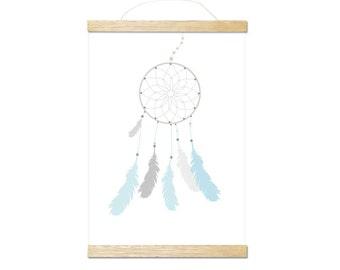 dreamcatcher blue art print