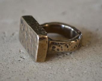 Textured Bronze Ring