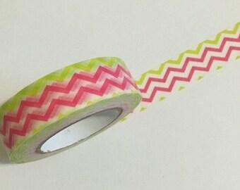 Daiso Neon Pink & Green Washi / Masking Tape