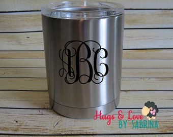 Monogram for cup - RTIC lowball