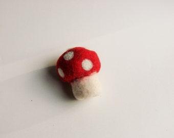 Wool Felt Toadstool