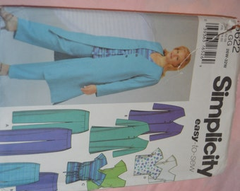 Simplicity 5622 Womens / women petite Pants Skirt Tunic or Top and Jacket Sewing Pattern - UNCUT - Sizes 26W - 32W