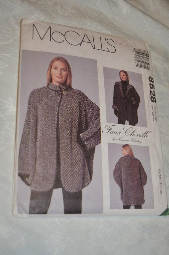 """McCalls 8528 Misses Reversible """" Faux Chenille """" Jacket ..."""