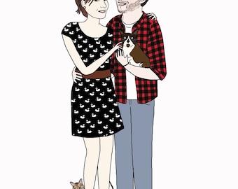 Portrait of couple (digital version)