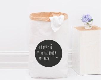 Paper bag / Moon / Black