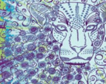 """Leopard Zen Okovango 18"""" x 21"""""""