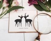 Cheers Deers (wedding/anniversary card)