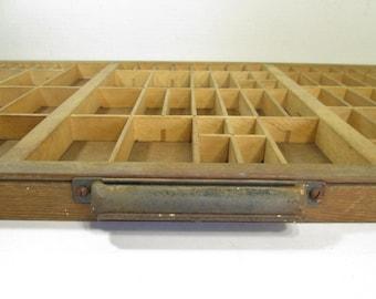 Letterpress Drawer Wooden Printers Typeset Drawer Industrial Decor