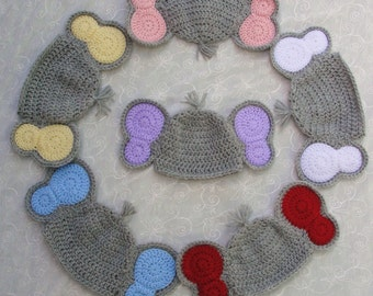 Newborn Baby Boy/Girl Elephant Hat~Crochet Newborn Elephant Hat~Elephant Hat Photo Prop~Gray Elephant Hat~Crochet Elephant Hat Photo Prop