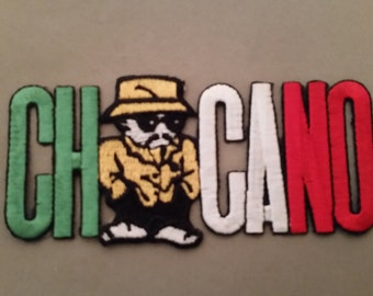 chicano embroidered patch