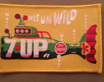 7 up  embroidered patch