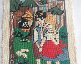 Hansel and Gretel needlepoint - creepy and cute!