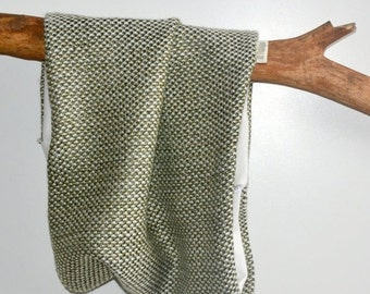 ON SALE Wool mix snood - Olive Green
