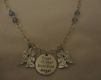 Trust in your Guardian Angel Necklace
