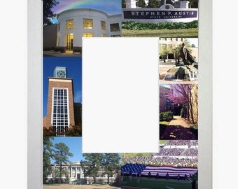 Stephen F Austin University Picture Frame Photo Mat Unique Gift School Graduation Personalized