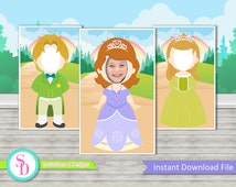 Sofia The First Photo Booth Prop - Instant Download (Digital File)