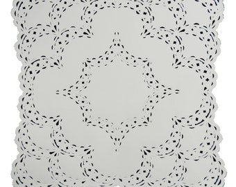 """25 - 12"""" x 12"""" SQUARE Paper Lace Doilies 