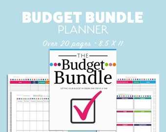 BUDGET Finance BUNDLE Planner diy Planner Debt Organizer Printable Letter Instant Download PDF Editable Fillable Expenses Savings budgeting