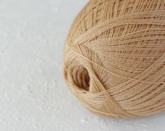 Cobweb pastel peach color wool yarn - haapsalu shawl yarn