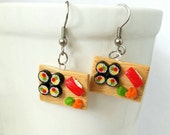Sushi Tray Earrings
