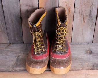 1980s Specs Brand Heavy Duty Steel Shank Rubber Boots Size 8 Mens